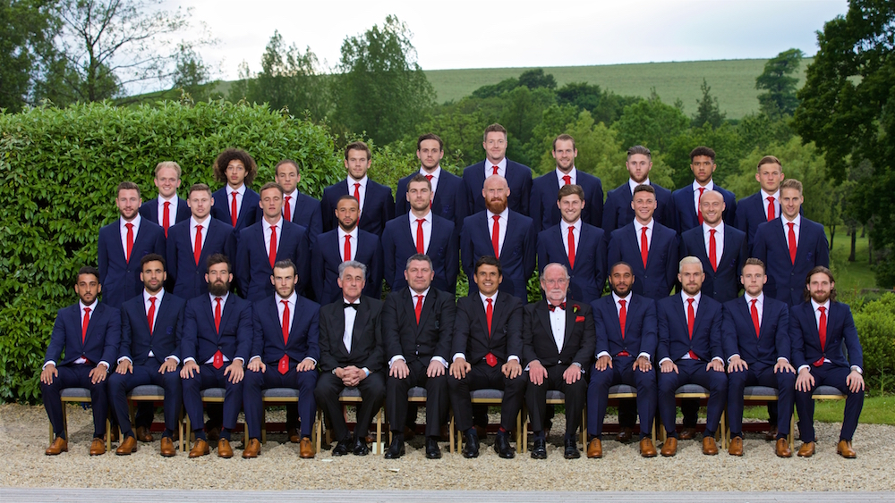 Welsh football squad #getin with WGMW