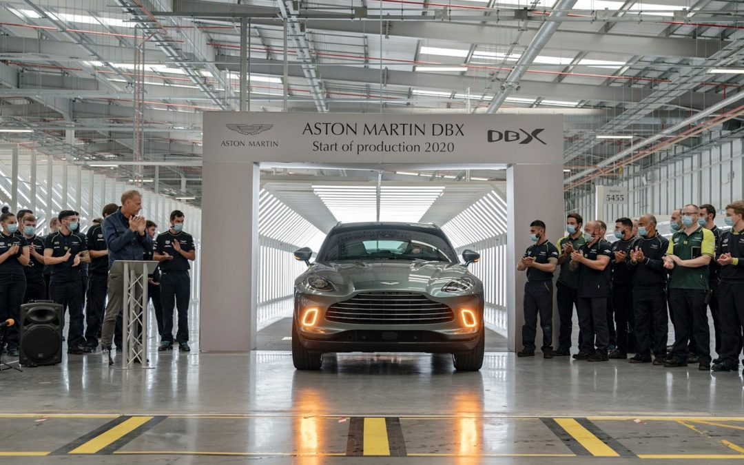 Aston Martin Lagonda starts production of their luxury DBX SUV at St Athan, Wales